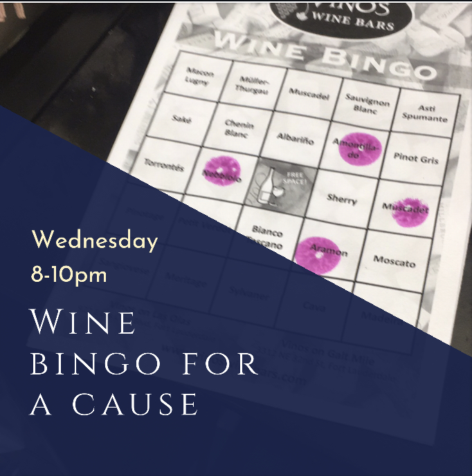 Wine Bingo for a Cause @ Vinos on Galt
