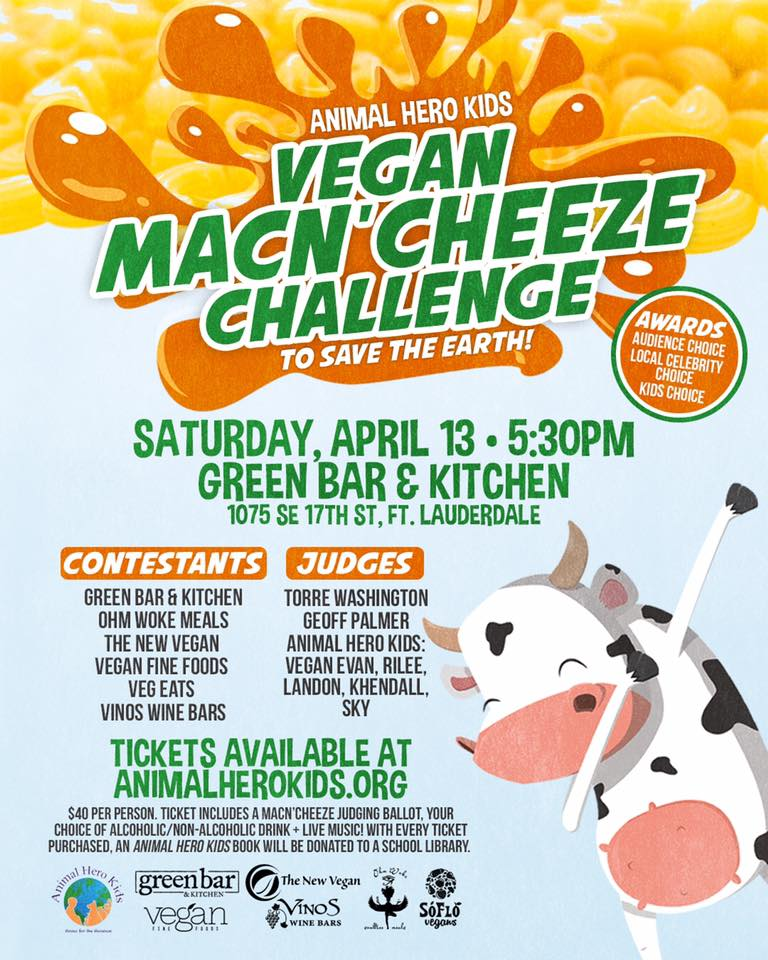 Vegan MacN'Cheeze Challenge to Save the Earth @ Green Bar and Kitchen