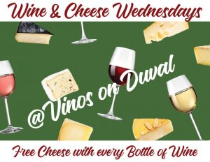 Wine & Cheese Wednesdays!