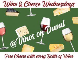 Wine & Cheese Wednesdays!